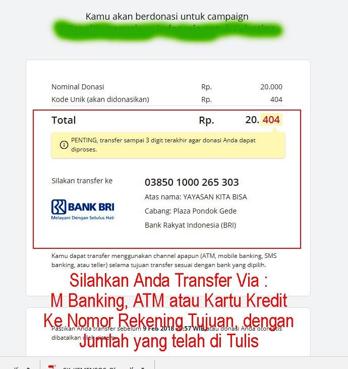 Cara Donasi Kitabisa 3