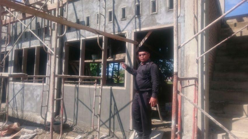 kondisi pembangunan asrama putra PPMTI Batang Kabung