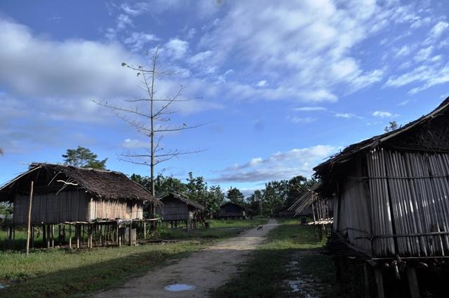 Suasana perkampungan Danowage, Ditrik Yaniruma, Boven Digoel, Papua.