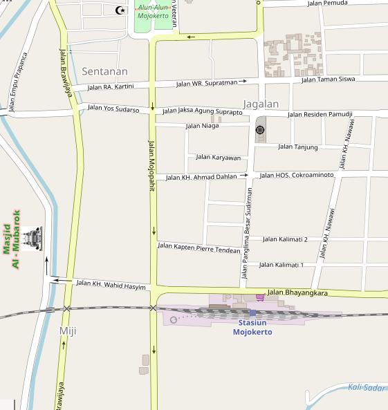 Peta Lokasi Masjid Al Mubarok Mojokerto
